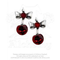 ULFE20 Black Cherry Skull Stud Earrings (Pair!)